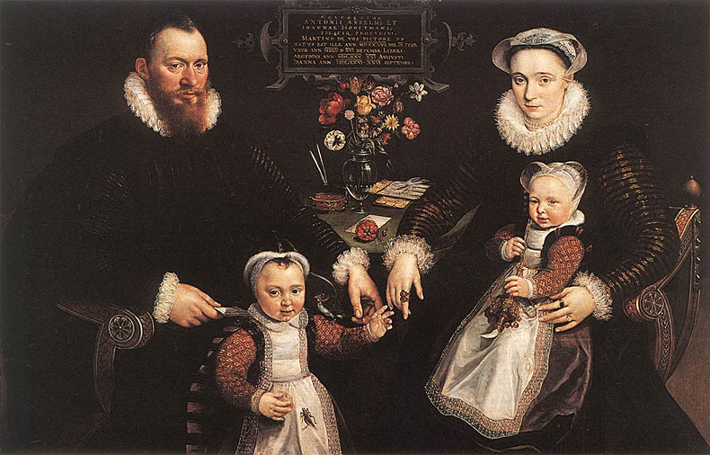 1577, Marten de Vos - portrait of Antonius Anselmus, his wife and their children