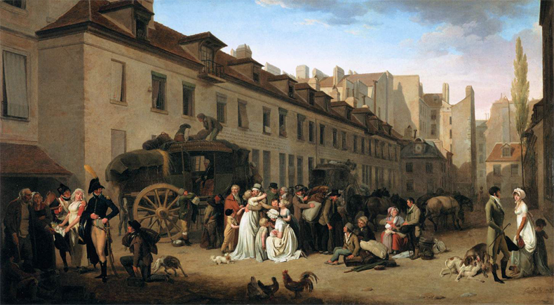 1803, Louis Leopold Boilly - The Arrival