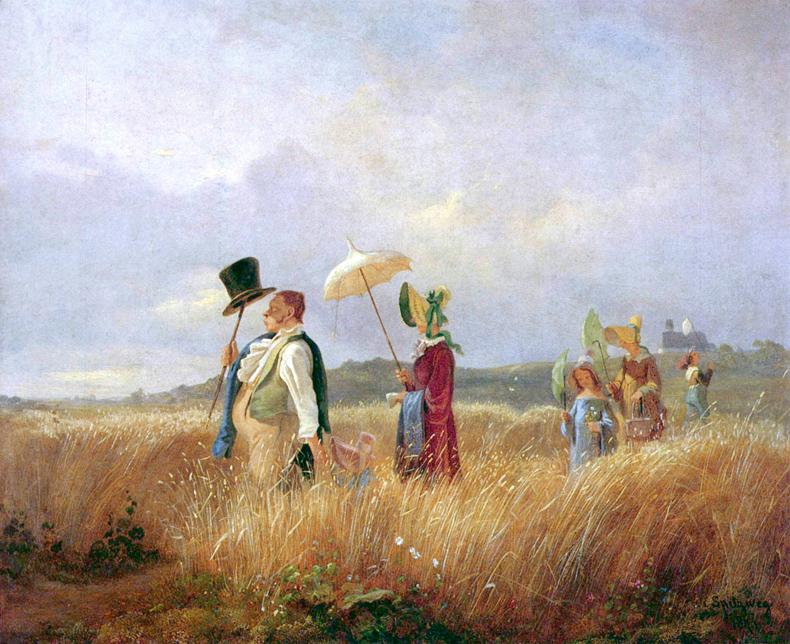 1841, Carl Spitzweg - Der Sonntagsspaziergang