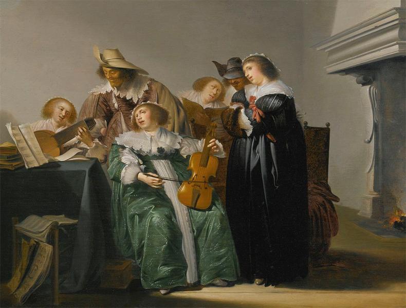 1630c, Pieter Codde - elegante Gesellschaft beim musizieren