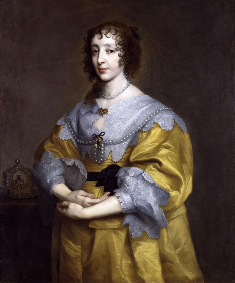 1632-35, Anthony van Dyck - Henrietta Maria