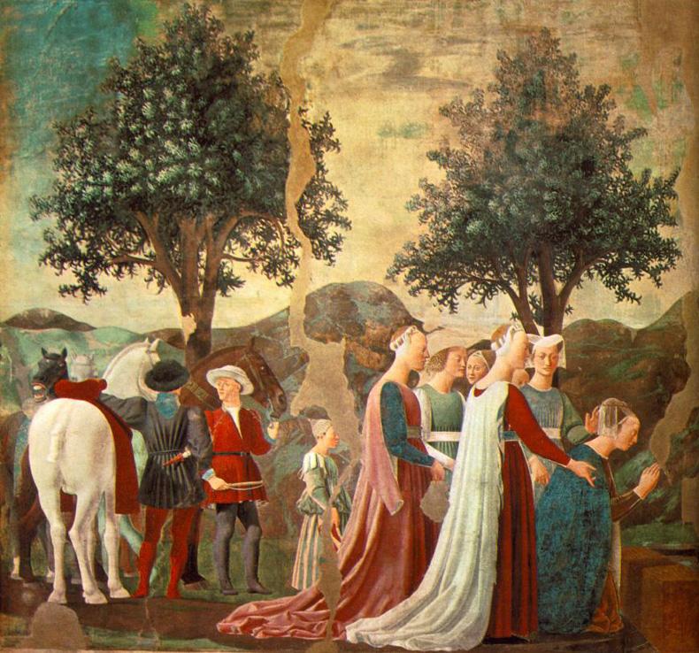1465, unbekannter Künstler - betende Frauen