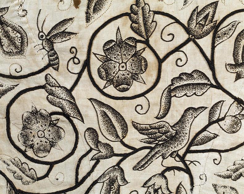 1620-25, Jacke mit Schwarzstickerei, Victoria & Albert Museum, London