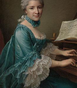 ca 1760, Francois-Hubert Drouais - Justine Favart