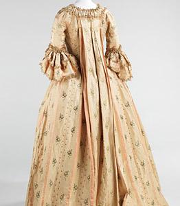 1765-70, Robe à la francaise, Metropolitan Museum, New York