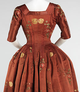 1740-60, Robe à l'Anglaise, Metropolitan Museum