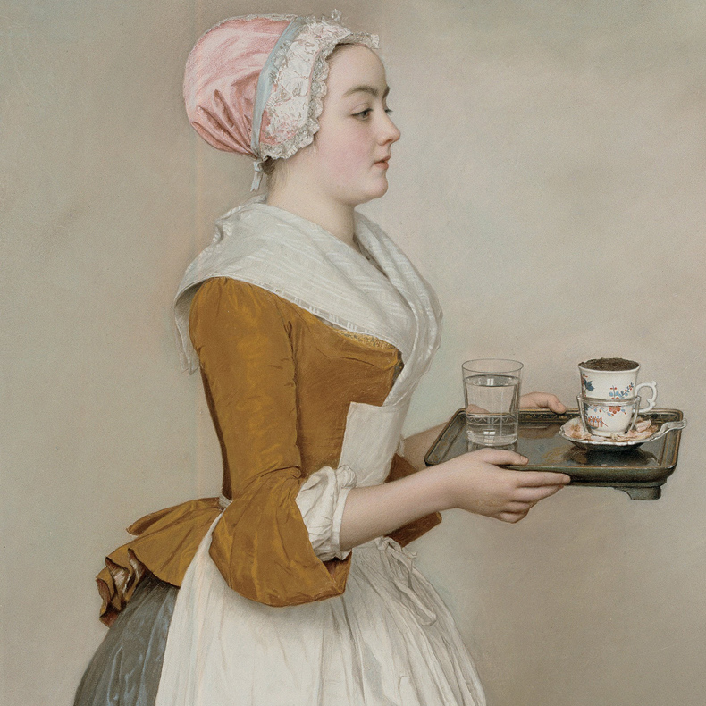 1744-45, Jean-Etienne Liotard - The Chocolate Girl