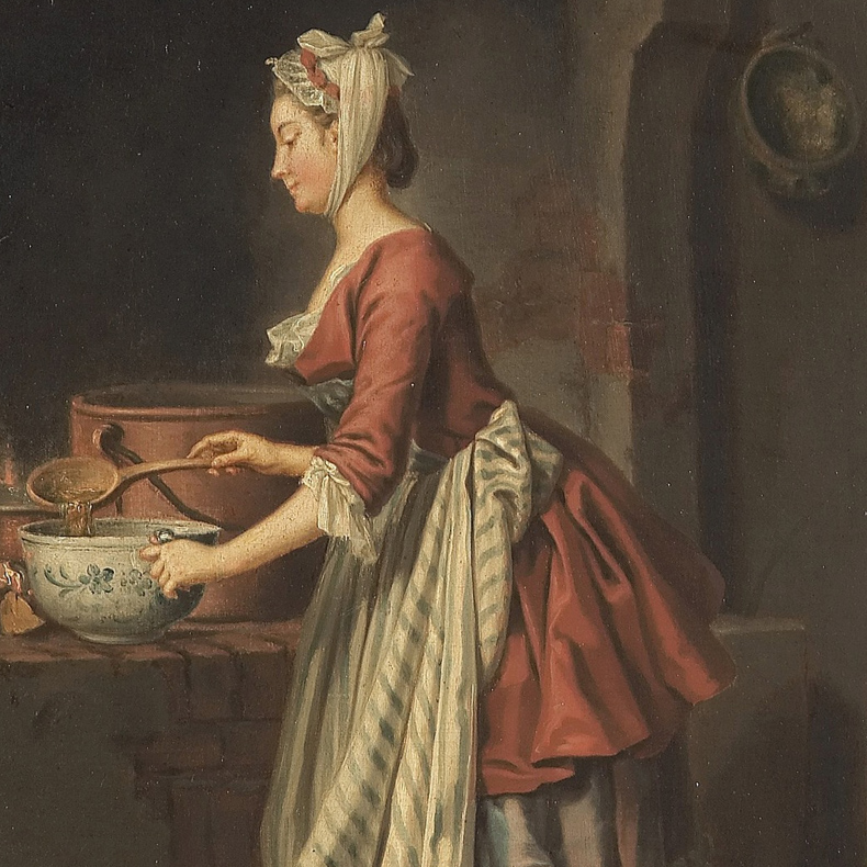 1750ca, Pehr Hilleström - Girl with a soup bowl