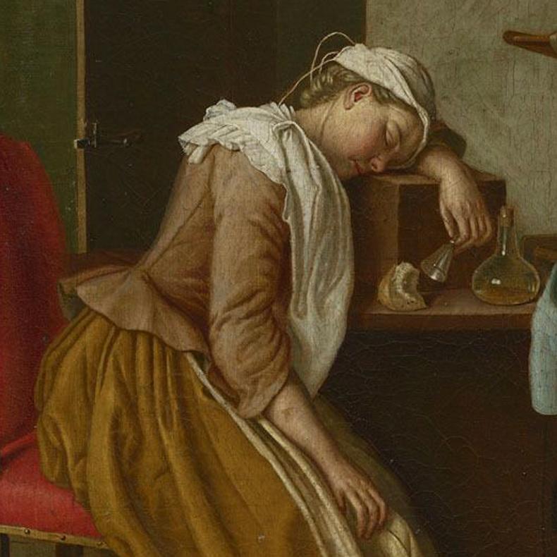 1765, Peter Jacob Horemans - Sleeping girl