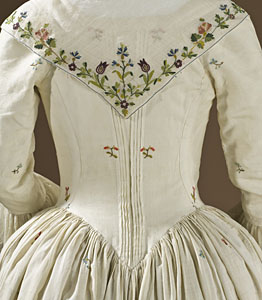 1780-90, Robe à l'Anglaise, LACMA