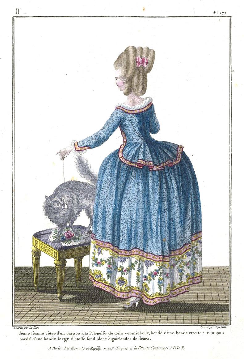 1780, Gallerie des Modes et Costumes Francais