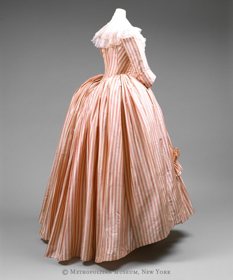 1785-87, Robe à l'Anglaise, Metropolitan Museum