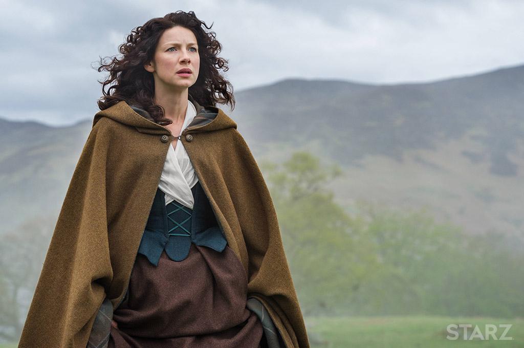 Outlander . Season 1 . Claires long brown cape