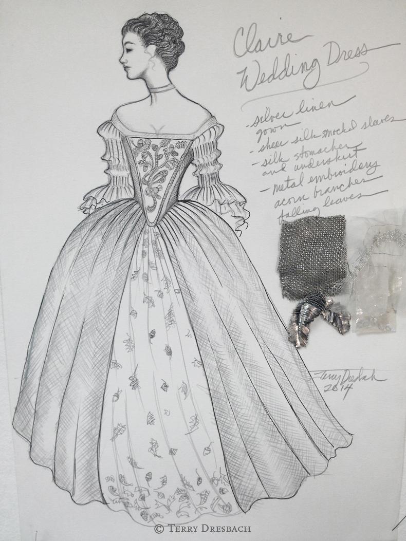 Outlander . Season 1 . Claires weddingdress