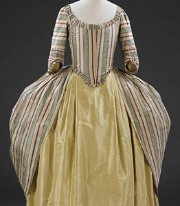 1775-90, Robe a la polonaise, Victoria & Albert Museum