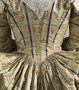 1775ca, Robe a la polonaise, LACMA