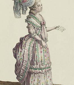 1778 Robe à la polonaise, Gallerie des Modes