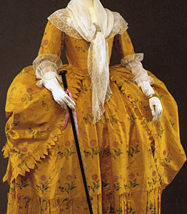 1780-85, Robe a la polonaise, Metropolitan Museum