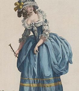 1785 Robe à la polonaise, Gallerie des Modes